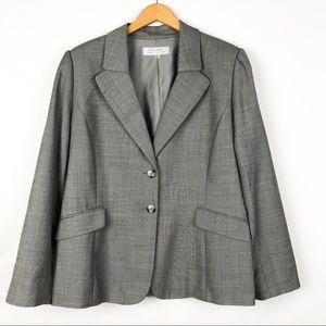 Tahari Arthur S. Levine Gray Wool Blend Blazer